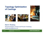 SWEREA_Topology Optimization of Castings_091103