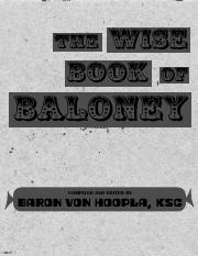 The Wise Book of Baloney