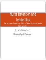 Retention and Leadership DHA.ppt