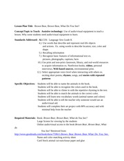 Brown Bear Lesson Plan for Technology