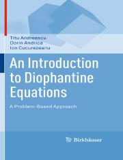 Titu Andreescu, Dorin Andrica, Ion Cucurezeanu (auth.) An introduction to Diophantine equations- A p