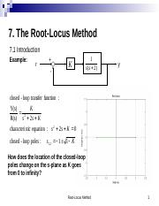 7. The Root Locus Method