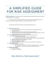 A Simplified Guide for Risk Assessment.docx