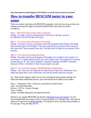 How to transfer BESCOM meter in your name notes