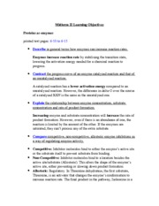 Midterm II Learning Objectives