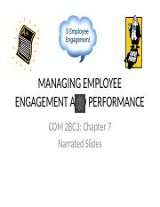 COM 2BC3 CH 7 Narrated Slides Engagement and Performance Management