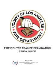 Los Angeles County FF Study Guide