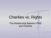 Charities v rights