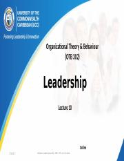 Lecture 9 Leadership and Contemporary Issues in Leadership.pptx