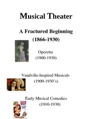Intro to theater Musical Theater 1