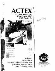 actex exam p study manual