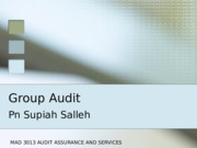 Topic 6 - Group Audit
