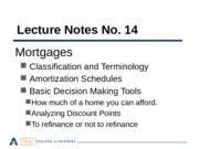 Lecture Notes 14