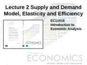 Lecture 02 - Supply and Demand Model_ Elasticity and Efficiency