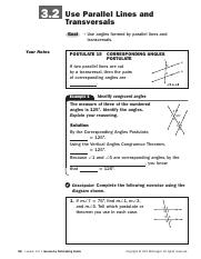 NG 3.2 Use parallel lines and transversals