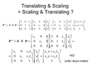Translating and Scaling