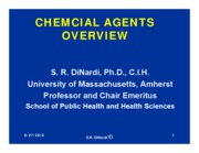 CHEMICAL AGENTS OVERVIEW 2010