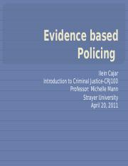 CRJ-100 power point Evidence based Policing