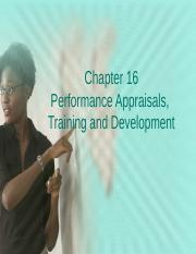 Chapter 16 Walsh Appraisal, training, development