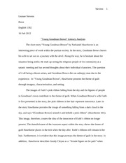 Literary Analysis Essay - English 1301