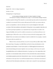 Writing Project 4-Topic Proposal Environmental Damge