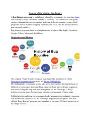 Concept of the Month - Bug Bounty (1)