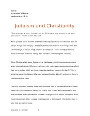 Judaism and Christianity (Revised).doc