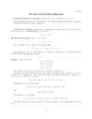 Euclidean algorithm notes