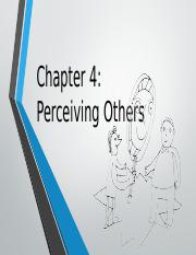 Chapter 4-Perceiving Others