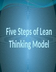 Five Steps of Lean Thinking Model