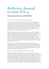 Reflective Journal Lecture 8 and 9