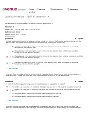 Quiz Submissions - TEST 8- Attention - PSYCH 1X03- INTRO-PSYCH, NEUROSCI & BEHAV - McMaster Universi