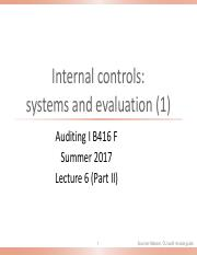 Lecture 6 Part II  Internal controls (1) 2017 OLE.pdf