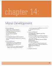 Chapter 14 - Moral Development