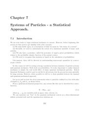 Thermal Physics lecture notes 7