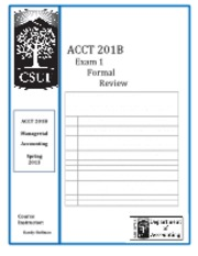 ACCT 201B - EXAM 1 - Formal Review Packet