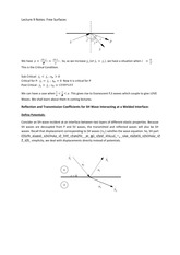 Lecture 9 Notes Free Surfaces