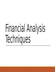 Financial Analysis Techniques