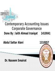 Corporate Governance 1234