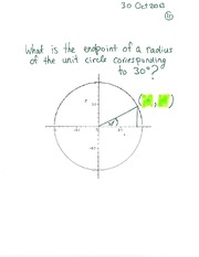 MATH 1112 Fall 2013 Length of Circular Arc Example Lecture Notes