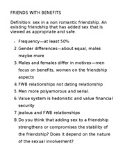 The definition of friends with benefits