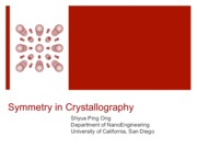 04 - Symmetry in Crystallography(4)