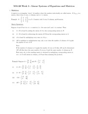 Chapter 5 - linear systems study guide