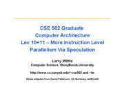 CSE502_lec10+11-dynamic-schedB_SpeculationS10