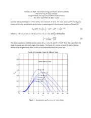 Assignment 2 Aerodynamics of Wind Turbines