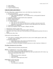 Code of Ethics and Conduct - Study Notes