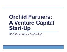 orchid partners venture capital startup