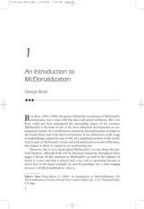 Chapter 1 An Introduction to McDonalization