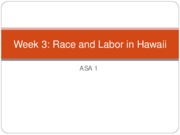 Race and Labor in Hawaii