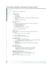 Communications- Study guide- Communication, technology and media